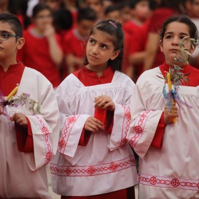 مسيرة عيد الشعانين في أيبارشية أربيل الكلدانية