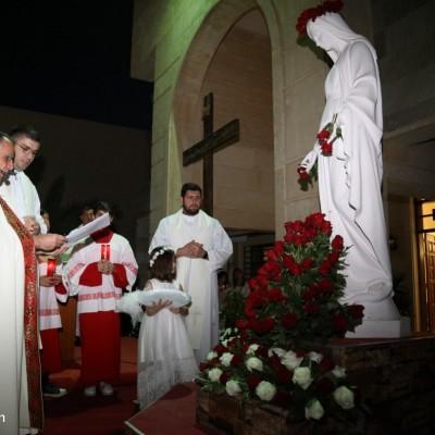 رهبانية بنات مريم اللكدانيات تحتفل بإختتام الشهر المريمي